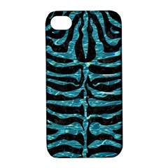 Skin2 Black Marble & Blue Green Water Apple Iphone 4/4s Hardshell Case With Stand by trendistuff