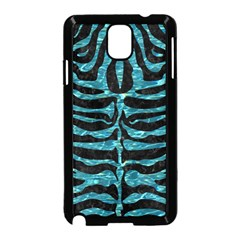Skin2 Black Marble & Blue Green Water Samsung Galaxy Note 3 Neo Hardshell Case (black) by trendistuff