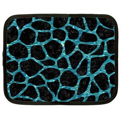 Skin1 Black Marble & Blue Green Water (r) Netbook Case (xl) by trendistuff