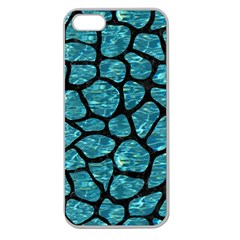 Skin1 Black Marble & Blue Green Water Apple Seamless Iphone 5 Case (clear) by trendistuff