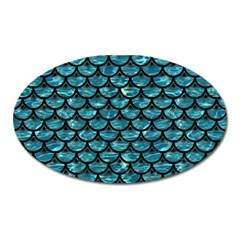 Scales3 Black Marble & Blue Green Water (r) Magnet (oval) by trendistuff
