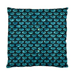 Scales3 Black Marble & Blue Green Water (r) Standard Cushion Case (two Sides) by trendistuff