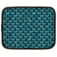 Scales3 Black Marble & Blue Green Water (r) Netbook Case (xl) by trendistuff