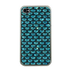 Scales3 Black Marble & Blue Green Water (r) Apple Iphone 4 Case (clear) by trendistuff
