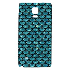 Scales3 Black Marble & Blue Green Water (r) Samsung Note 4 Hardshell Back Case by trendistuff