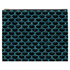 Scales3 Black Marble & Blue Green Water Cosmetic Bag (xxxl) by trendistuff
