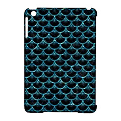 Scales3 Black Marble & Blue Green Water Apple Ipad Mini Hardshell Case (compatible With Smart Cover) by trendistuff