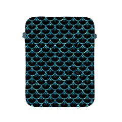 Scales3 Black Marble & Blue Green Water Apple Ipad 2/3/4 Protective Soft Case by trendistuff