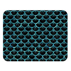 Scales3 Black Marble & Blue Green Water Double Sided Flano Blanket (large) by trendistuff