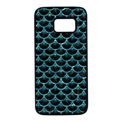 Scales3 Black Marble & Blue Green Water Samsung Galaxy S7 Black Seamless Case
