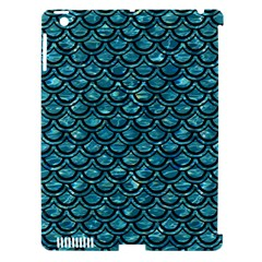 Scales2 Black Marble & Blue Green Water (r) Apple Ipad 3/4 Hardshell Case (compatible With Smart Cover) by trendistuff