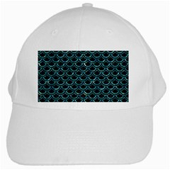 Scales2 Black Marble & Blue Green Water White Cap by trendistuff