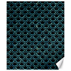 Scales2 Black Marble & Blue Green Water Canvas 8  X 10  by trendistuff