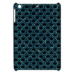 Scales2 Black Marble & Blue Green Water Apple Ipad Mini Hardshell Case by trendistuff