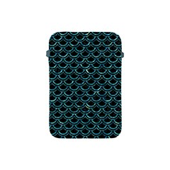 Scales2 Black Marble & Blue Green Water Apple Ipad Mini Protective Soft Case by trendistuff