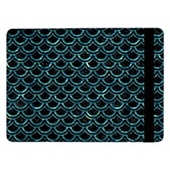 Scales2 Black Marble & Blue Green Water Samsung Galaxy Tab Pro 12 2  Flip Case by trendistuff