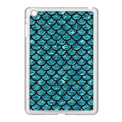 Scales1 Black Marble & Blue Green Water (r) Apple Ipad Mini Case (white) by trendistuff