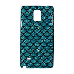 Scales1 Black Marble & Blue Green Water (r) Samsung Galaxy Note 4 Hardshell Case by trendistuff