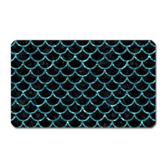 Scales1 Black Marble & Blue Green Water Magnet (rectangular) by trendistuff
