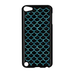 Scales1 Black Marble & Blue Green Water Apple Ipod Touch 5 Case (black) by trendistuff