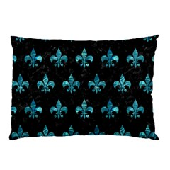 Royal1 Black Marble & Blue Green Water (r) Pillow Case (two Sides) by trendistuff