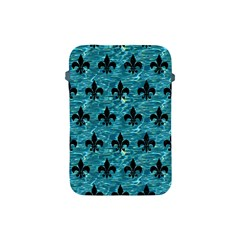 Royal1 Black Marble & Blue Green Water Apple Ipad Mini Protective Soft Case by trendistuff