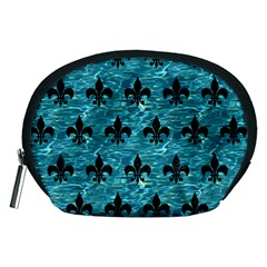 Royal1 Black Marble & Blue Green Water Accessory Pouch (medium) by trendistuff
