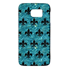 Royal1 Black Marble & Blue Green Water Samsung Galaxy S6 Hardshell Case  by trendistuff