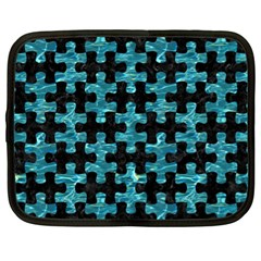 Puzzle1 Black Marble & Blue Green Water Netbook Case (xl) by trendistuff