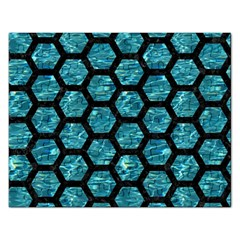Hexagon2 Black Marble & Blue Green Water (r) Jigsaw Puzzle (rectangular) by trendistuff