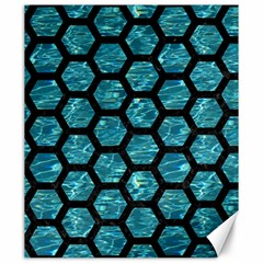 Hexagon2 Black Marble & Blue Green Water (r) Canvas 20  X 24  by trendistuff