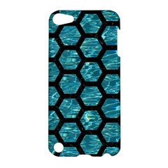 Hexagon2 Black Marble & Blue Green Water (r) Apple Ipod Touch 5 Hardshell Case by trendistuff