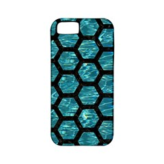Hexagon2 Black Marble & Blue Green Water (r) Apple Iphone 5 Classic Hardshell Case (pc+silicone) by trendistuff