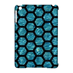 Hexagon2 Black Marble & Blue Green Water (r) Apple Ipad Mini Hardshell Case (compatible With Smart Cover) by trendistuff
