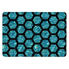 Hexagon2 Black Marble & Blue Green Water (r) Samsung Galaxy Tab 8 9  P7300 Flip Case by trendistuff