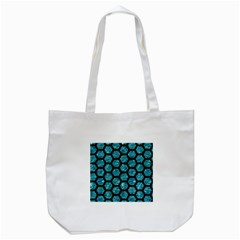 Hexagon2 Black Marble & Blue Green Water (r) Tote Bag (white) by trendistuff
