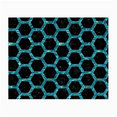 Hexagon2 Black Marble & Blue Green Water Small Glasses Cloth by trendistuff