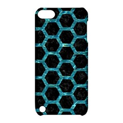 Hexagon2 Black Marble & Blue Green Water Apple Ipod Touch 5 Hardshell Case With Stand by trendistuff