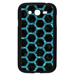Hexagon2 Black Marble & Blue Green Water Samsung Galaxy Grand Duos I9082 Case (black) by trendistuff