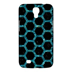 Hexagon2 Black Marble & Blue Green Water Samsung Galaxy Mega 6 3  I9200 Hardshell Case by trendistuff