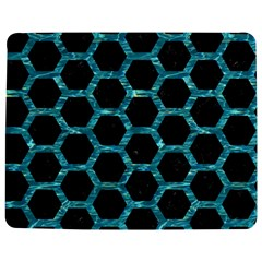 Hexagon2 Black Marble & Blue Green Water Jigsaw Puzzle Photo Stand (rectangular) by trendistuff