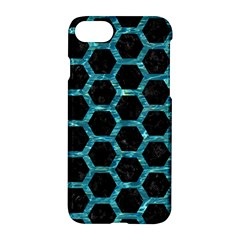 Hexagon2 Black Marble & Blue Green Water Apple Iphone 7 Hardshell Case by trendistuff