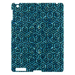 Hexagon1 Black Marble & Blue Green Water (r) Apple Ipad 3/4 Hardshell Case by trendistuff