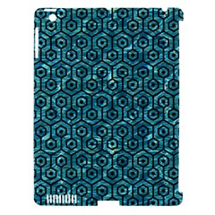 Hexagon1 Black Marble & Blue Green Water (r) Apple Ipad 3/4 Hardshell Case (compatible With Smart Cover) by trendistuff