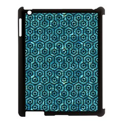 Hexagon1 Black Marble & Blue Green Water (r) Apple Ipad 3/4 Case (black) by trendistuff