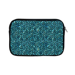 Hexagon1 Black Marble & Blue Green Water (r) Apple Ipad Mini Zipper Case by trendistuff