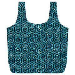 Hexagon1 Black Marble & Blue Green Water (r) Full Print Recycle Bag (xl) by trendistuff