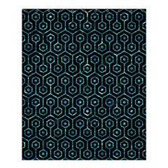 Hexagon1 Black Marble & Blue Green Water Shower Curtain 60  X 72  (medium) by trendistuff