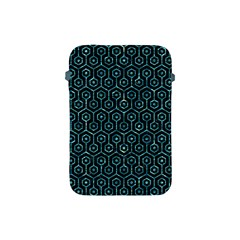 Hexagon1 Black Marble & Blue Green Water Apple Ipad Mini Protective Soft Case by trendistuff