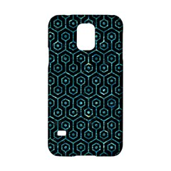 Hexagon1 Black Marble & Blue Green Water Samsung Galaxy S5 Hardshell Case  by trendistuff